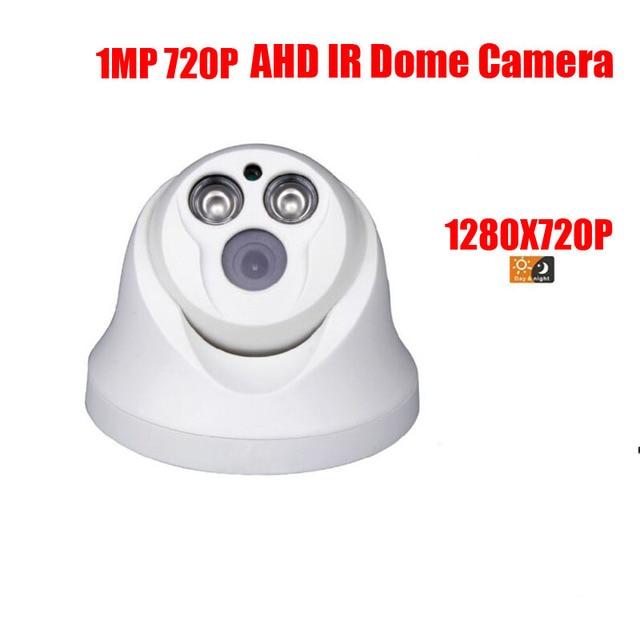 free shipping HD Surveillance 2000TVL Dome CCTV Camera 1MP AHD Camera 720P Security IR 20M Nightvision Work For AHD DVR