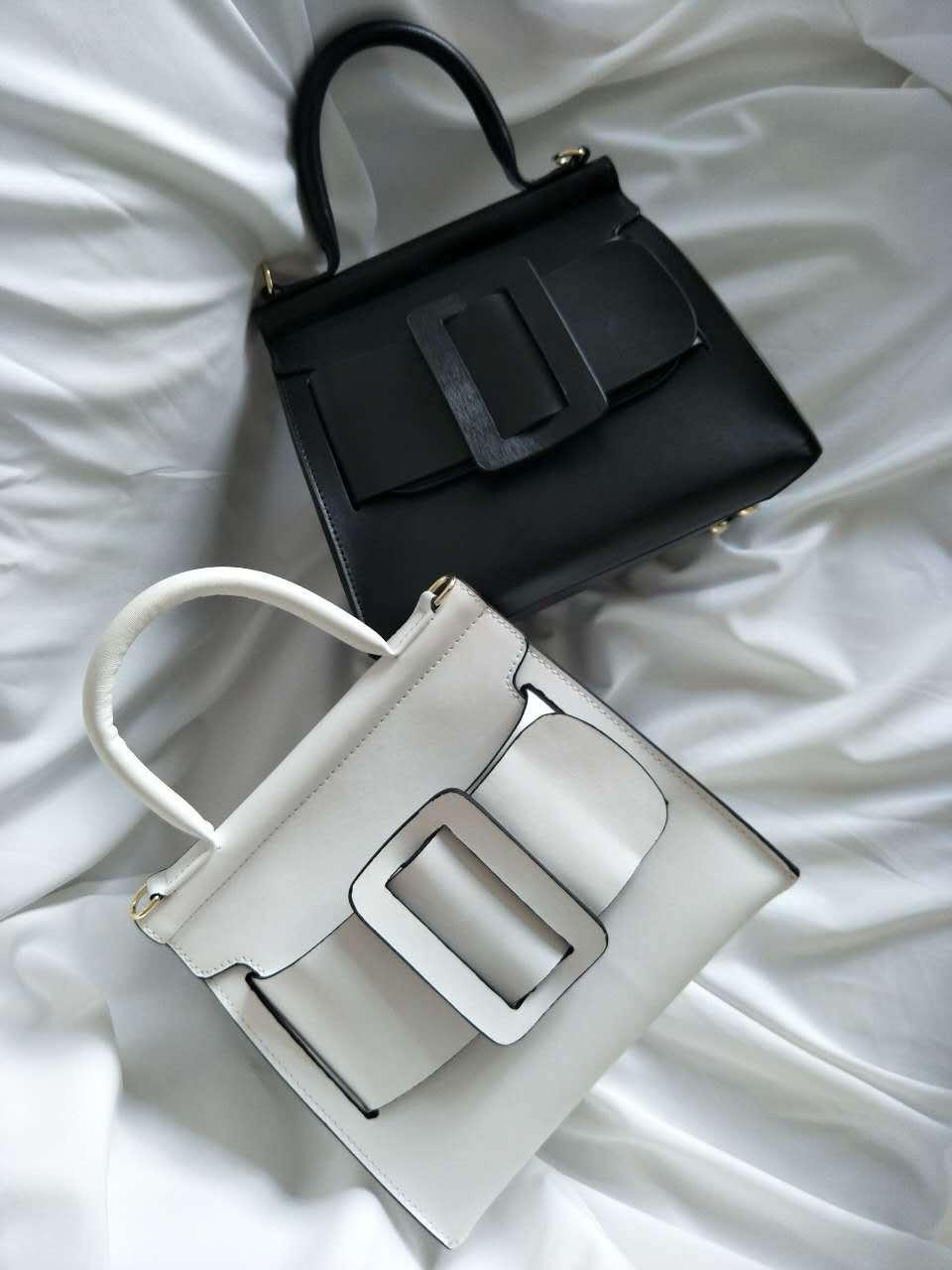 где купить Large Buckle Belt Fashion Women's Bag 2018 Handheld Cross-tree Leather Bag по лучшей цене