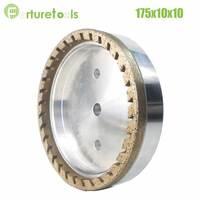 1pc half segment teeth 2# diamond wheel for glass Straight line Beveling Machine Dia175x10x10 hole 12/22/50 grit 150 180 BL005
