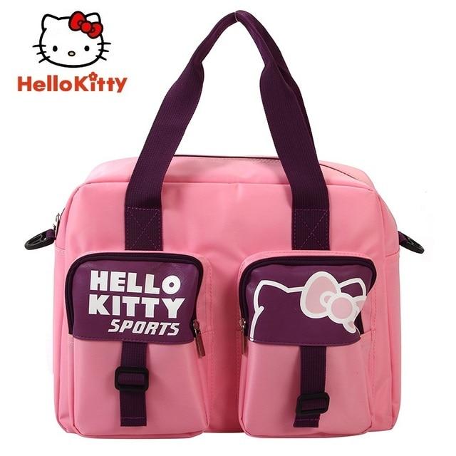 4700f6ec04 Hello Kitty Women Running Bag Sports Backpacks Girl New Pink Carry bag Book Bag  Cute Outdoor School HHF64645