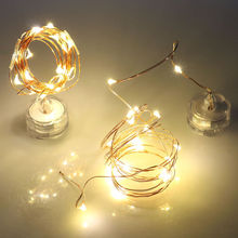 10 20 LED DIY Light String Submersible Bottle Copper Fairy Twinkle Strip Wire Outdoor Party Decoration Novelty Night Base Lamp