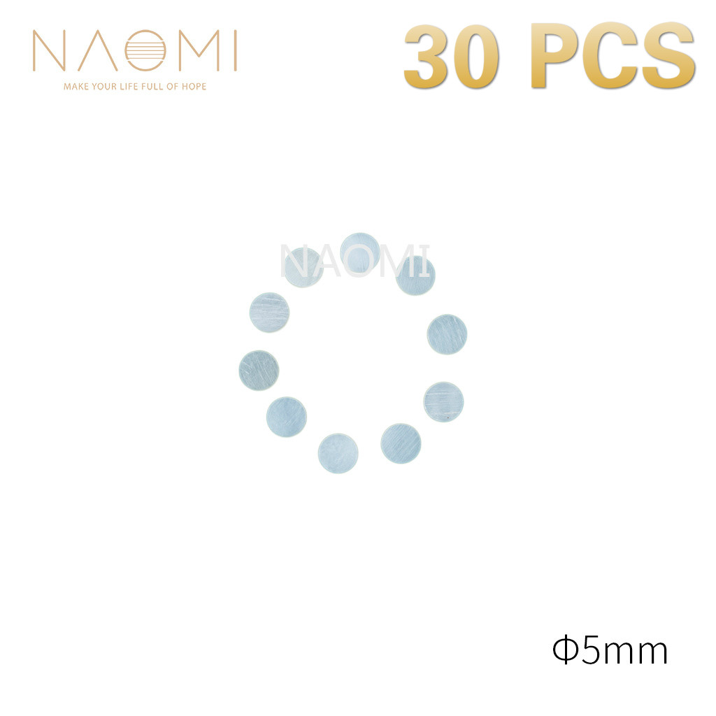 Musical Instruments Sports & Entertainment Naomi 30 Pcs Guitar Dots 5mm White Mother Of Pearl Shell Fingerboard Dots W/inlay For Electric Guitar Ukulele Fingerboards New Sturdy Construction