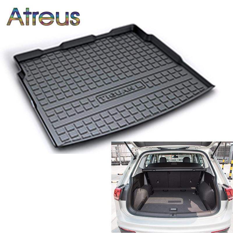 Atreus Car Rear Trunk Floor Mat Durable Carpet For Volkswagen VW Tiguan 1 MK2 2017 2018 2009-2015 2016 Boot Liner Anti-slip mat 1 18 масштаб vw volkswagen новый tiguan l 2017 оранжевый diecast модель автомобиля