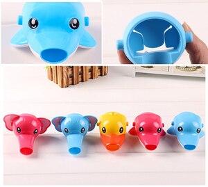 Image 3 - Leuke Animal Sink Tap Peuter Extender Wassen voor Kids Kinderen Hand Wassen Badkamer Keuken Water Kraan Extension