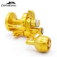 CAMEKOON Saltwater Lever Drag Reel Sea Fishing Multiplier Trolling Big Game Reel Full Aluminum CNC Machined Jigging Reel