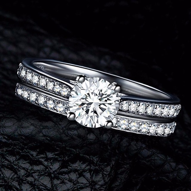 IPARAM Charm Silver Ring Women's Jewelry Crystal Wedding Jewelry Engagement Head