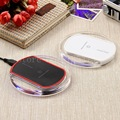 crystal Gift New original Mobile phone wireless charger Round Qi Wireless Plate Charging Pad Charger for iPhone Samsung Nokia LG