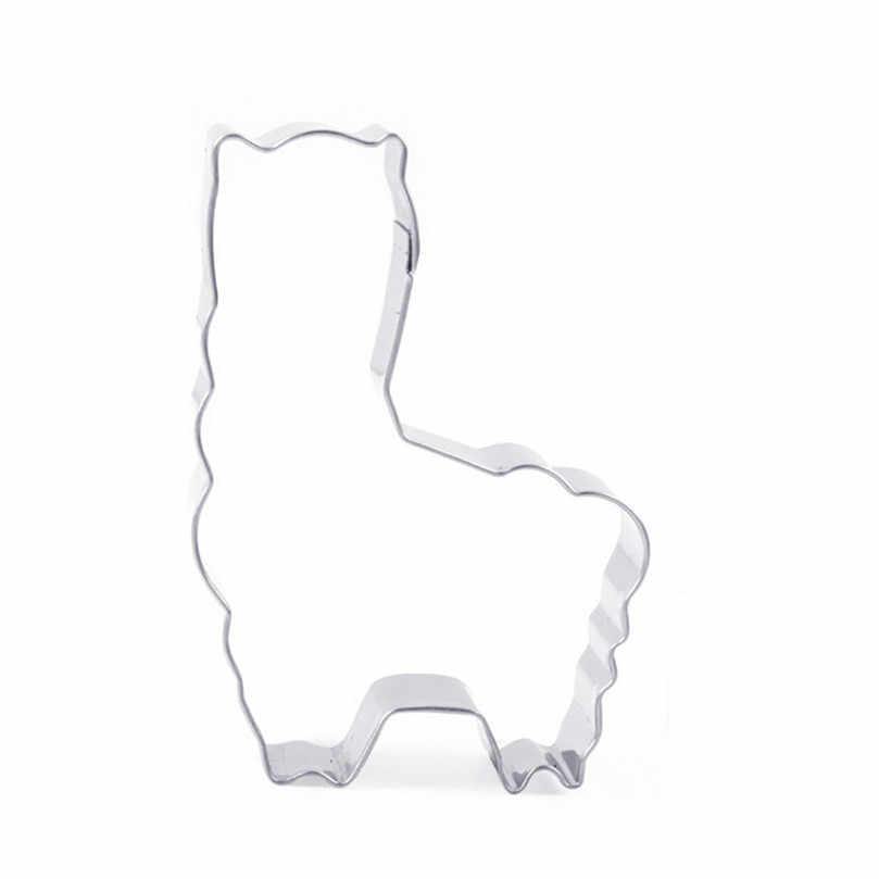 1pcs Animal Alpaca Shape Biscuit Mold Bakeware Fondant Cake Mold DIY Sugar craft 3D Pastry Cookie Cutters Baking Tools 40