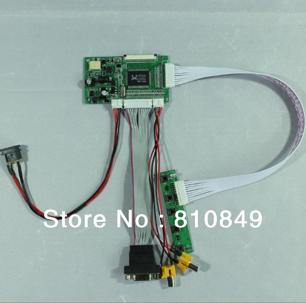 VGA 2AV Reversing Driver Board Work For 8inch 800x600 50pin AT080TN52 Lcd Panel