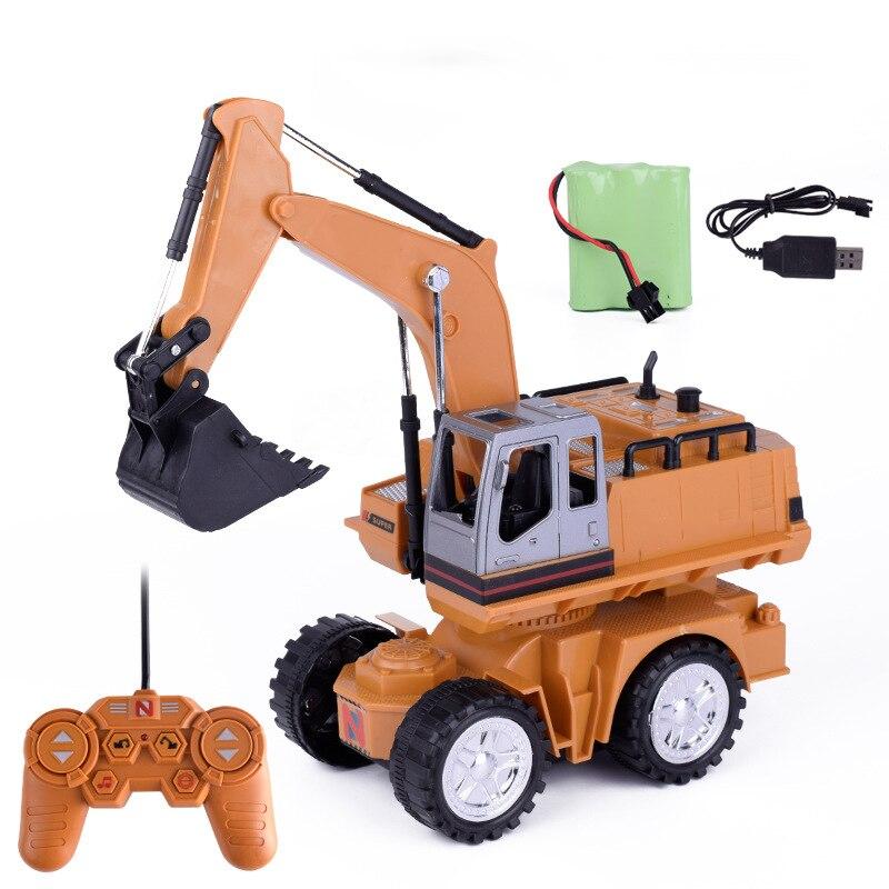 RC ingénierie voiture tracteur RC camion jouet pelle sur chenilles 2.4G télécommande camions Rc pelle jouets Simulation jouets pour enfants