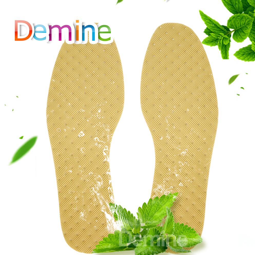 Demine Deodorant Insoles Light Weight Mint Herbal Shoes Pad Absorb Sweat Summer Breathable Shoes Pad Comfortable Insoles