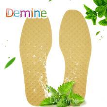 цена на Demine Deodorant Insoles Light Weight Mint Herbal Shoes Pad Absorb Sweat Summer Breathable Shoes Pad Comfortable Insoles