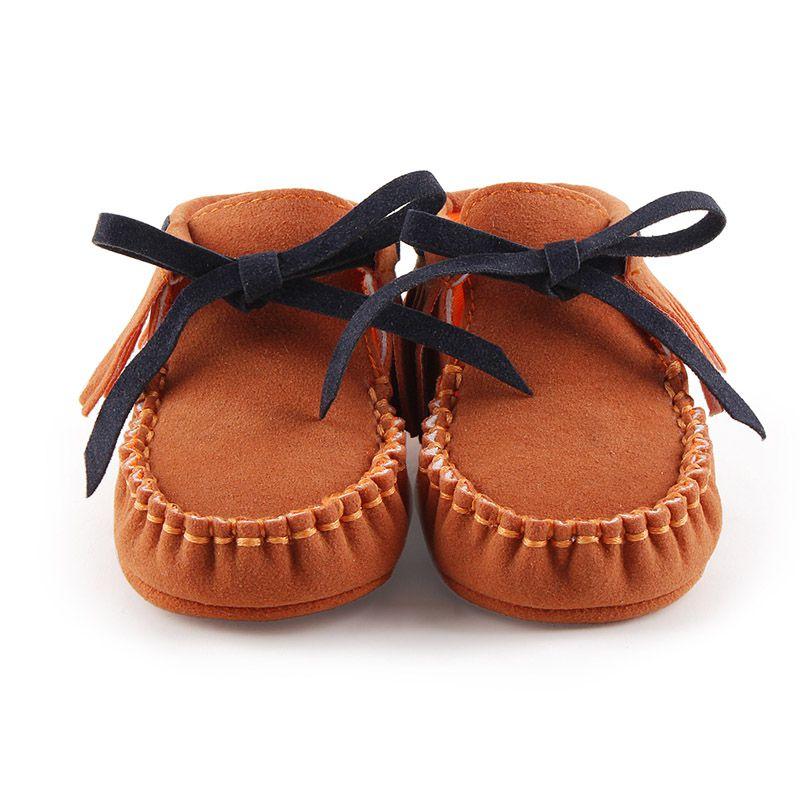 Spring Newborn Girls Fringe Anti-skid First Walkers Autumn Bowknot Kids Girl Cack Slip On Shallow Shoes