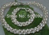 À la main beaucoup de riz perle d'eau douce ensembles de bijoux livraison gratuite