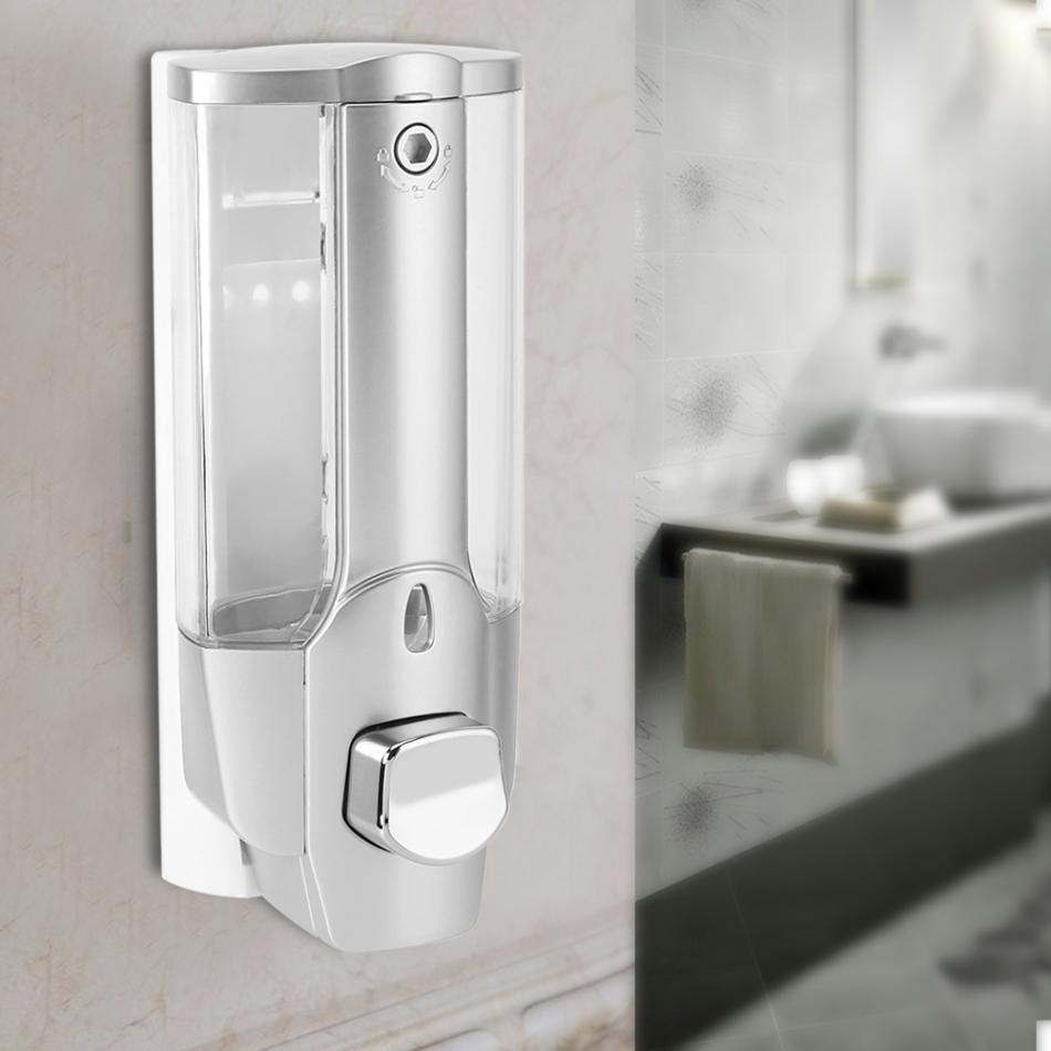 350ML Liquid Soap Dispenser Wall Mount Sanitizer Dispensador for Bathroom/ Kitchen Hand Soap Dispensers Accessories Holder tempat sabun cair dinding