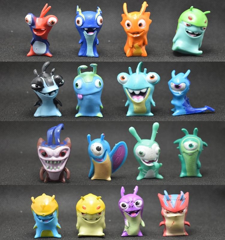 16pcs/set Slugterra Action Figures Toys Anime Cartoon Slugterra Toys Slugs Children Kids Gift 4.5-5cm action figure pokemon