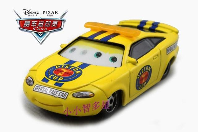 Pixar Cars 2 Toys Charlie Checker Official Piston Cup Pace Car Toy 1