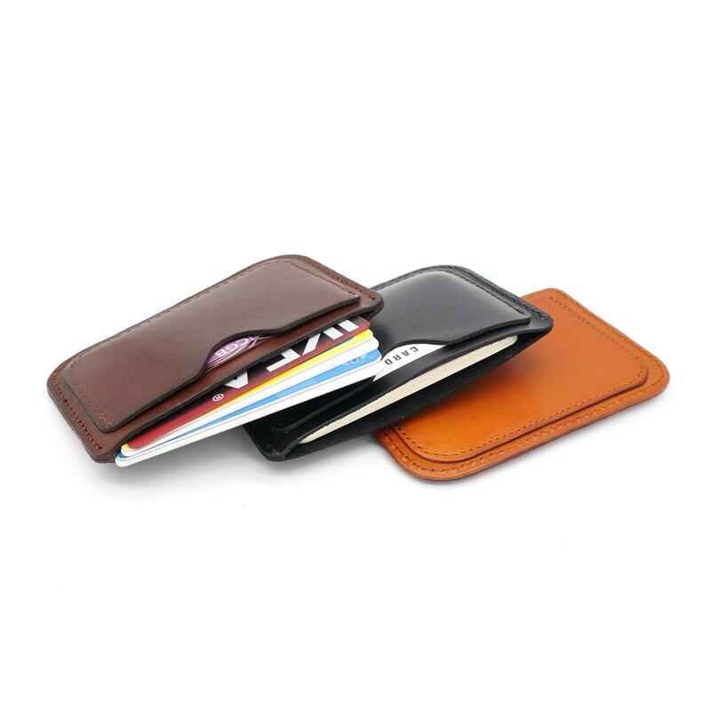 2018 Äkta Läder Kort & ID Hållare Case Ultra Thin Business Card - Plånböcker - Foto 2