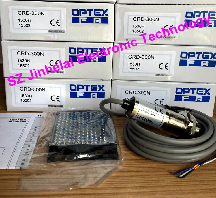 New and original CRD-300N OPTEX PHOTOELECTRIC SWITCH  Photoelectric sensor 100% new and original fotek photoelectric switch a3g 4mx mr 1 free power photo sensor