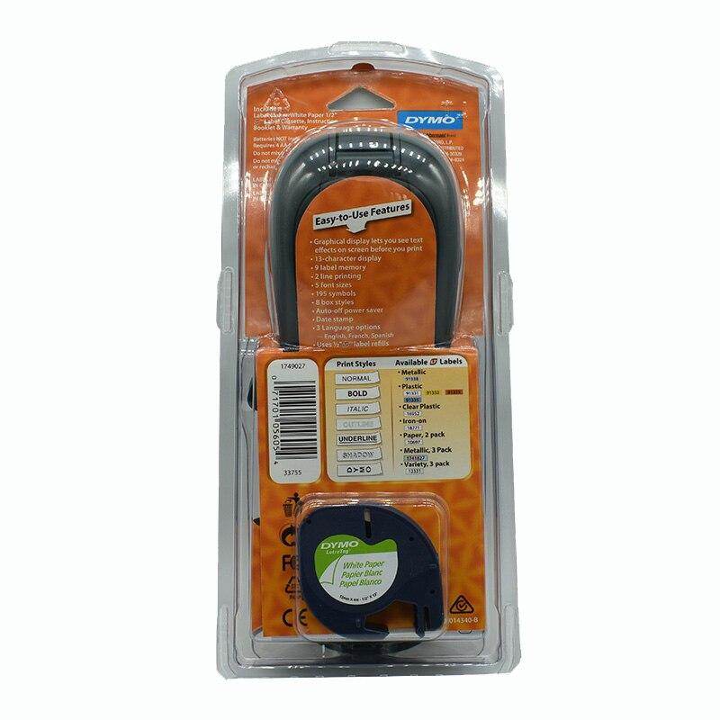 Compatible pour Dymo LT-100H imprimante d'étiquettes portable pour Dymo Letratag recharges d'étiquettes LT 12267/91200/91201/91202/91203/91204/91205/ - 2