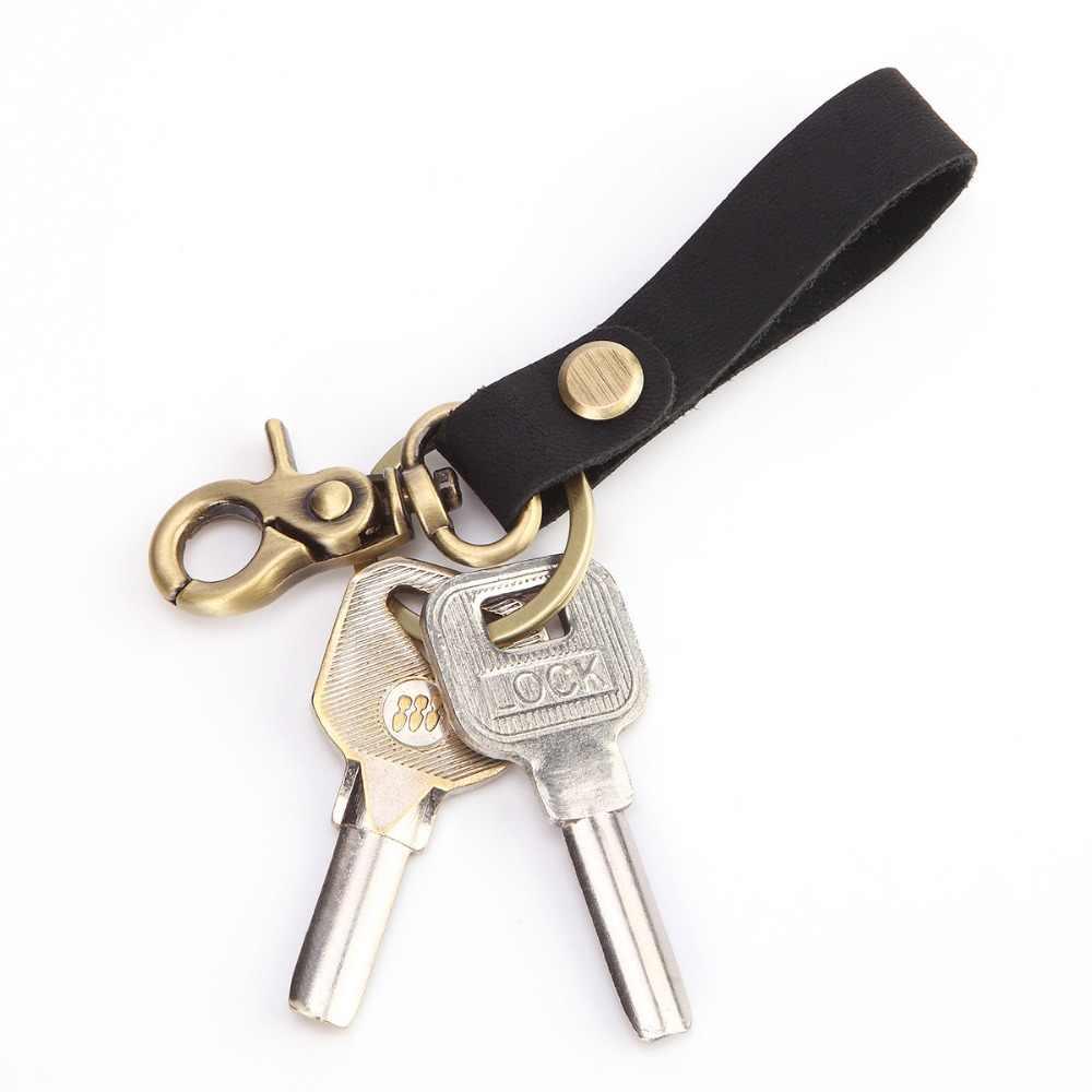 Rahat EDC Tuşları Cüzdan Hakiki Deri Anahtarlık Tutucu Kahverengi Metal Kahya Tuşları Koleksiyonu 2019 Yeni Anahtarlık