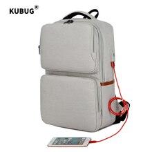 KUBUG Waterproof 15.6inch Laptop Backpack Men Backpacks Travel Teenage Portable Shoulder bag male bagpack mochila