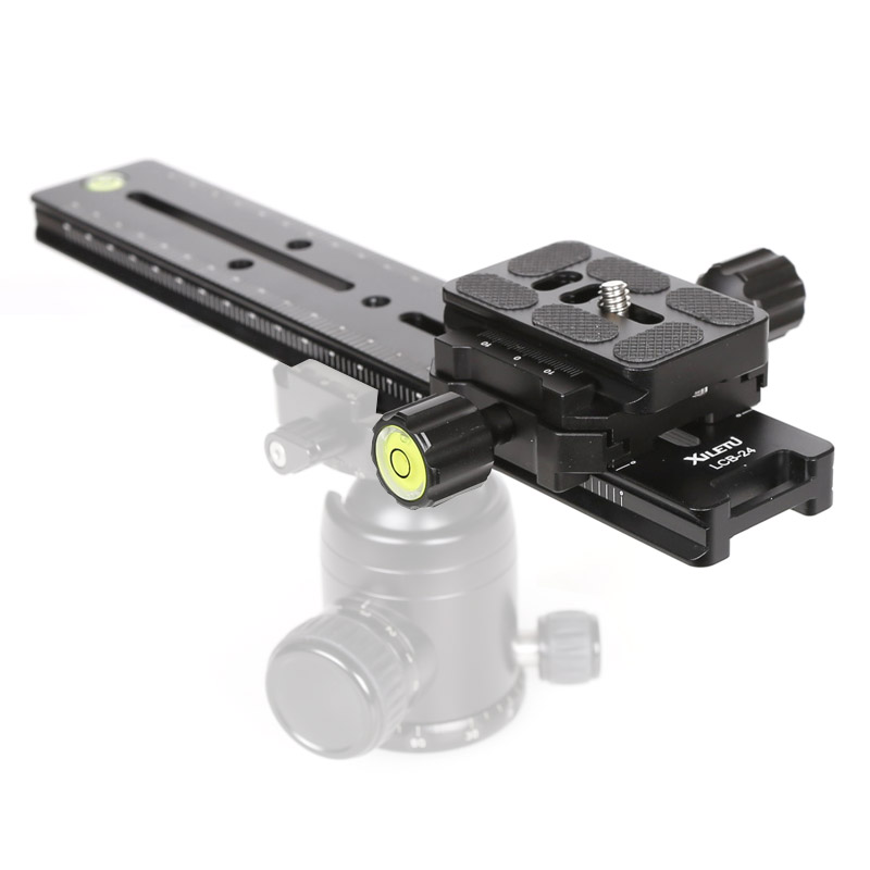 Image 2 - XILETU LCB 24B Track Dolly Slider Focusing Focus Rail Slider & Clamp and QR Plate Meet Arca Swiss For DSLR Camera Canon-in Tripod Heads from Consumer Electronics