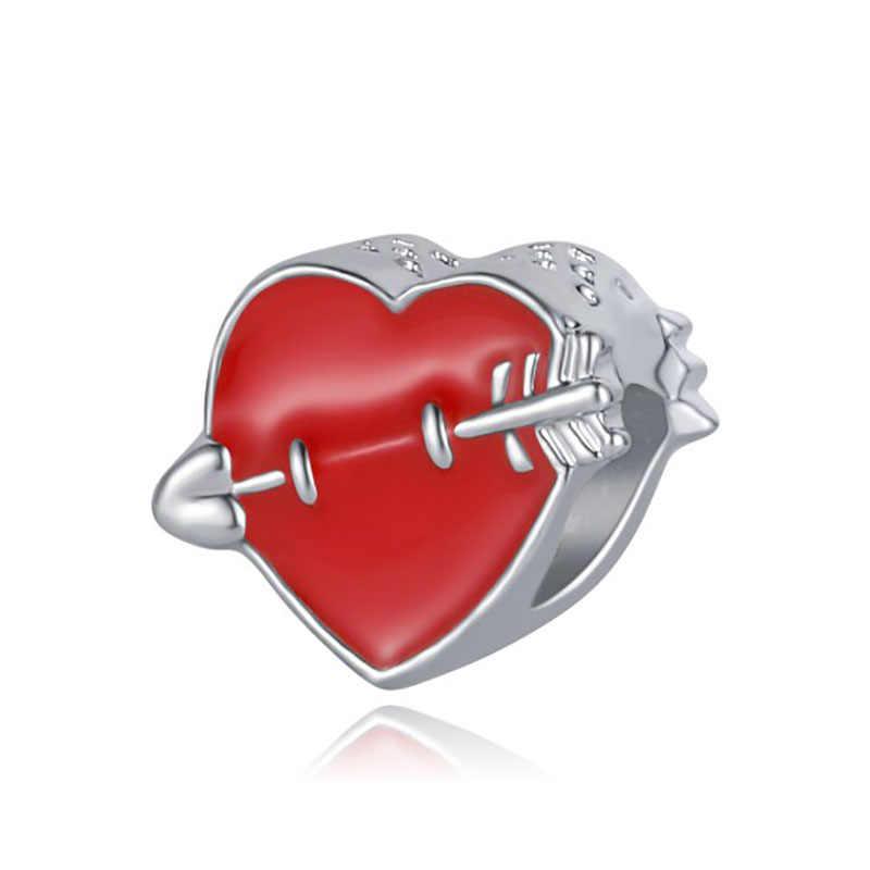 DIY heart beads jewelry bijoux bracciale bisuteria french bead 925 silver perfumes mujer originales bracelet charms