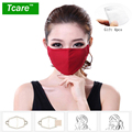 * Tcare Cotton PM2.5 Anti haze smog mouth Dust Mask + * Activated carbon filter paper * bacteria proof Flu Face mask kpop Mask