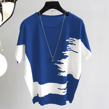 shintimes Knitted Tee Shirt Femme Plus Size Loose Woman Clothes T Women 2019 Casual Summer Top Short Sleeve Female T-Shirt