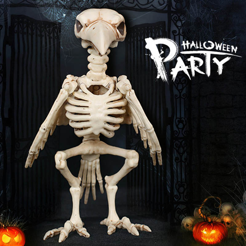 Halloween Decoration Bone Props Animals Skeleton Ornaments Bat Spider Dragon Bird Bones Hallowmas Horror House Party Decoration (105)