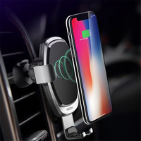 HOT ROCK QI Wireless Car Charger Pad Gravity Linkage Auto Lock Rotated Phone Car Holders And