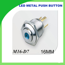 metal push button LED Light 16mm Metal Momentary Push Button Switch 1PCS hight dot illuminated