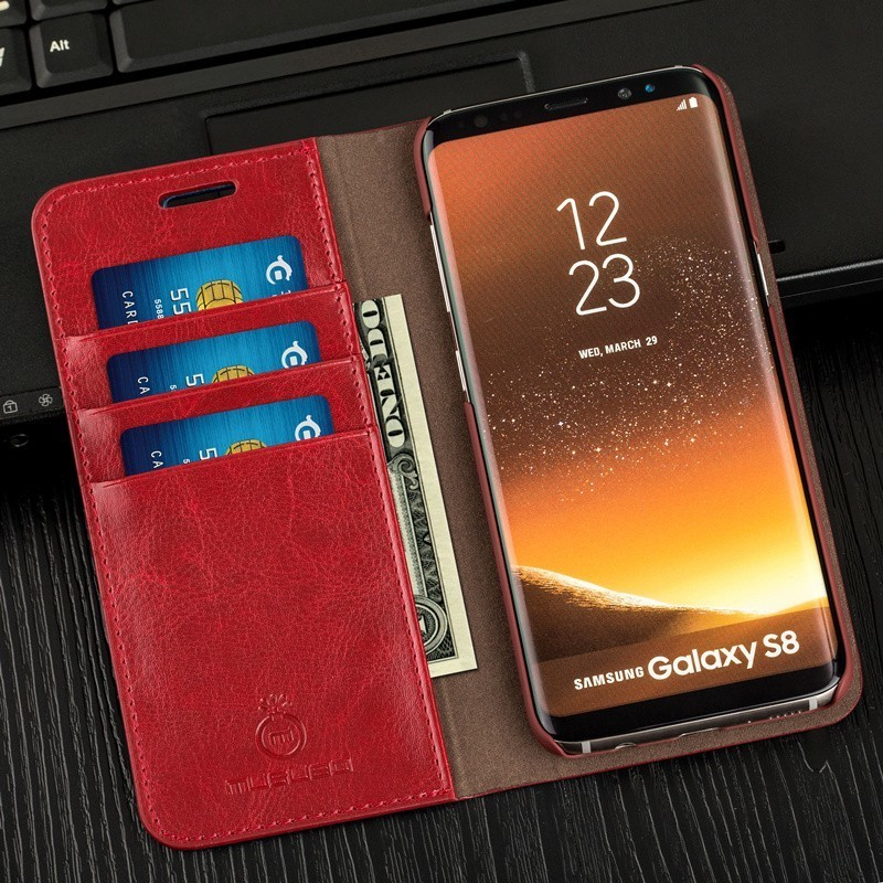 Laumans Luxury Women Leather Case For Samsung S8 Plus S7Edge Lady Girls Wallet Phone Bag Cases Cover for Galaxy S6 Edge S5 S4 S3