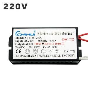 Image 3 - 220V Electronic Transformer 60W 80W 105W 120W 160W 180W 200W 250W For AC 12V Halogen lamp Crystal Lamp G4 Light Beads