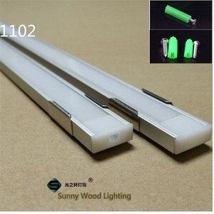 Image 4 - 5 30 Teile/los 1m 40 Inch/Pc Aluminium Profil Led streifen Kanal 8 11mm PCB Board Bar licht Gehäuse Ersatzteile Linear Decken Schrank