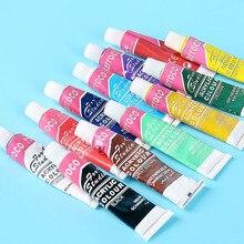Paints-Set Textile-Paint Acrylic Colored 6ML Art-Supplies Brightly Professional