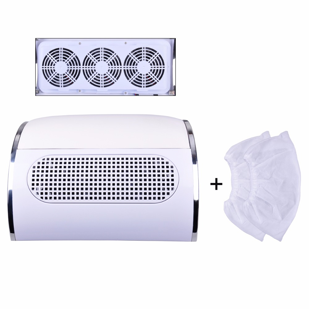Nail Art Dust Suction Collector 3 fans Nail dust collector nail dust cleanser collector Nail dryer machine with 2 bags 15l industrial dust collector 1200w electric dust collector for dry and wet
