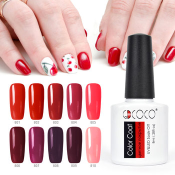 10 Pcs * 8 Ml Warna Gel Kit Gdcoco Rendam Off UV LED Nail Gel Polish Long Langgeng Gel Lacquer primer Base Coat Nowipe Top Memperkuat