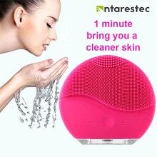 Elektryczny silikonowy środek oczyszczający do twarzy akumulator wodoodporny makijaż twarzy głębokie pory szczotka do czyszczenia złuszczający antyestec PF60