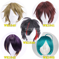 30cm/32cm/35cm Black Brown Falxen Purple Blue Color Mixture Anime Short Hair Cosplay Wigs Ensemble Stars-Shinkai Kanata Wig