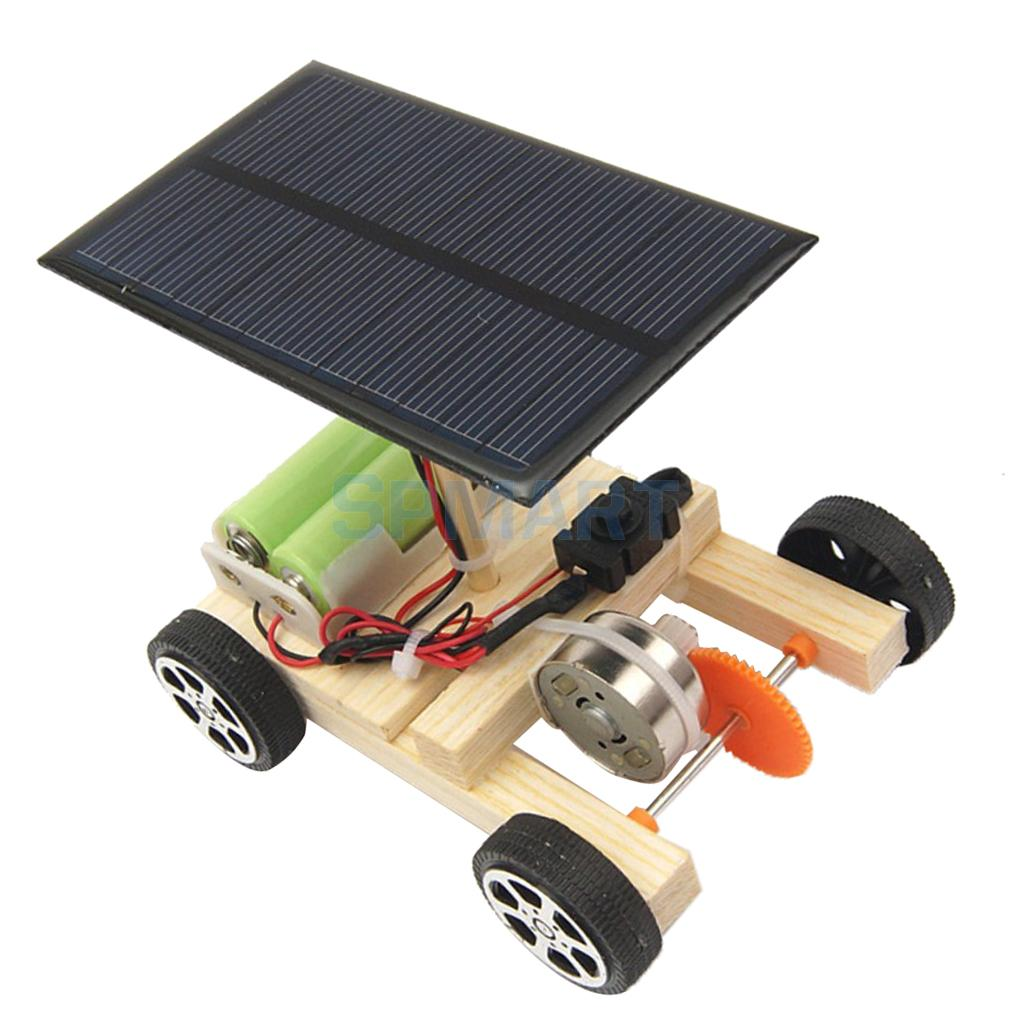 Diy Wind Powerd Car Toy Mini Motor Electrical Circuit Kit Physics Circuits Alternative Energy Green Science Kits Toys Kids Model Physical Solar Engine Experiment Working For Boys And Girls Iq