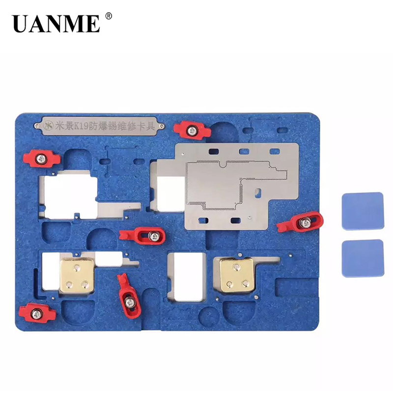 цена на UANME Circuit Board PCB Holder Jig Explosion-proof Cooling Tin Platform For iPhone X 6 6S 7 8 Plus Motherboard Fixture Tool