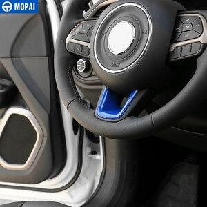 Image 2 - Mopai abs車インテリアステアリングホイールの装飾カバートリムステッカージープrenegade 2015 + ジープコンパス 2017 + 車のスタイリング
