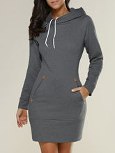 2018 Spring Fashion Women Long Hoodies Sweatshirts Self-tie Pockets Long-Sleeved Pullovers Hooded Slim Fit Casual Tops Bts Kpop