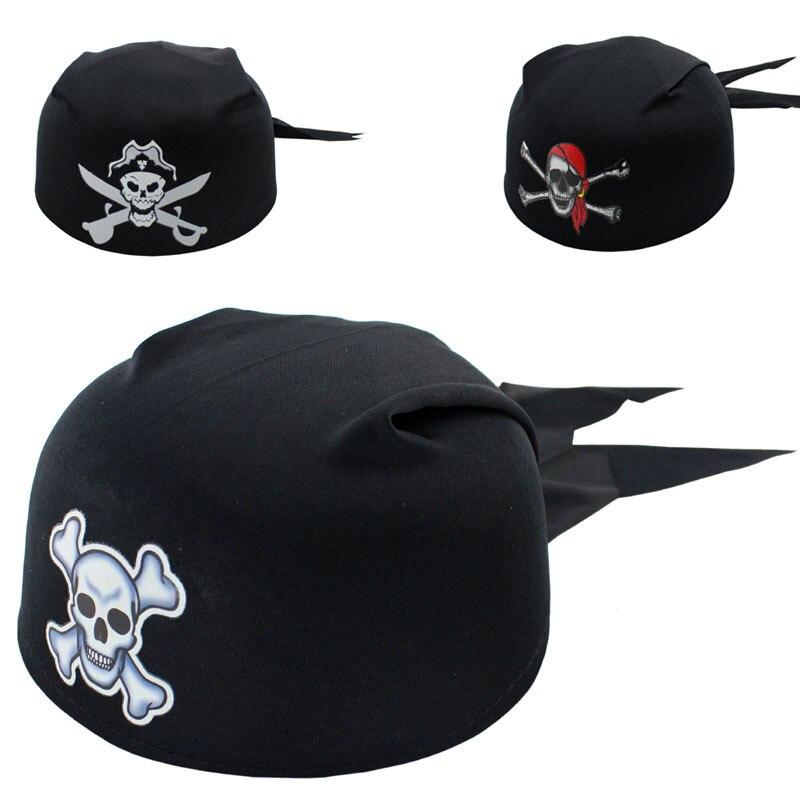 Nova zabava za zabave za noč čarovnic Pirate Captain Hat lobanja Pirate Cap Halloween Cosplay Performance rekviziti Otroško darilo