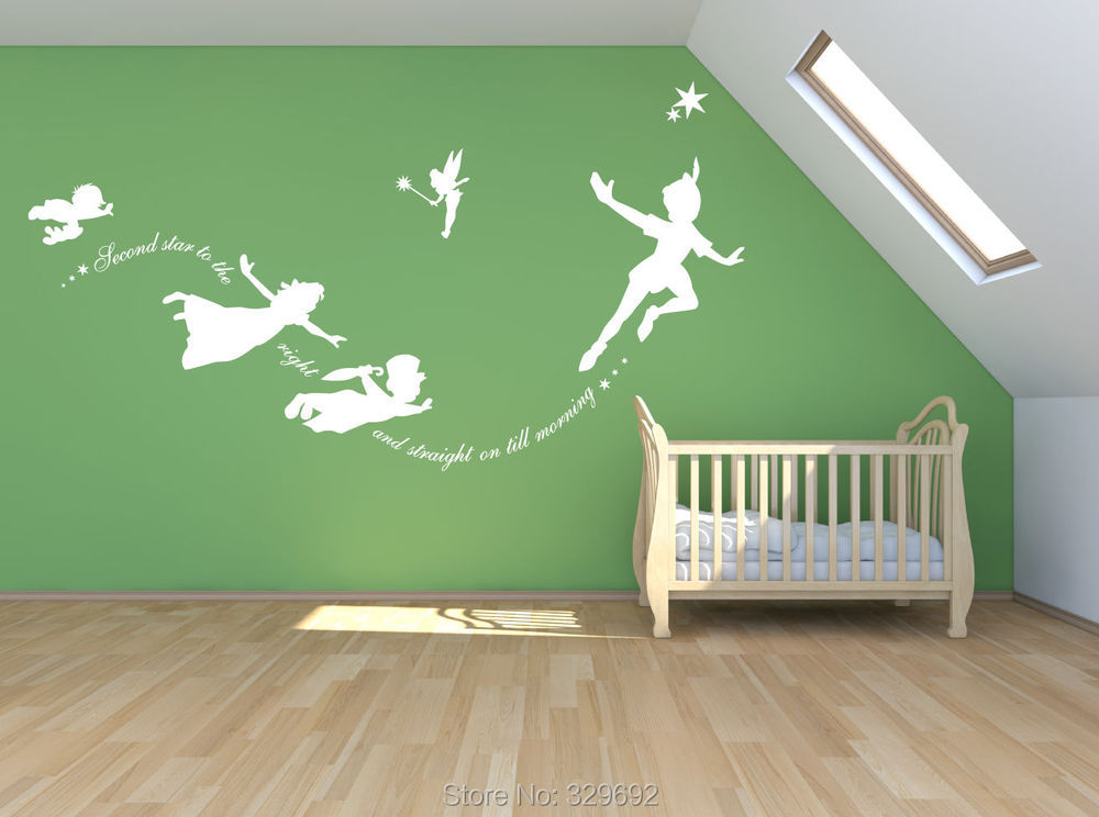 wall sticker Picture - More Detailed Picture about Peter pan ...