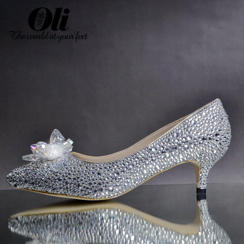 Здесь продается  Crystal shoes wedding shoes rhinestone high-heeled single shoes genuine leather women