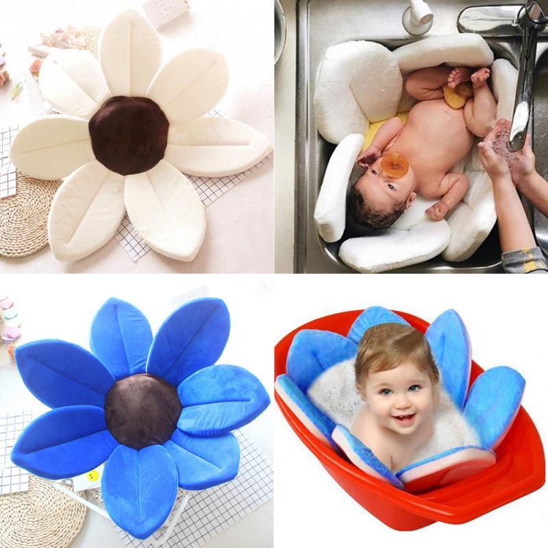 Baby Bathtub Pad Newborn Foldable Lotus Shape Cushion Bath