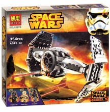 лучшая цена 2017 New Bela 10373 Star Wars The Force Awakens TIE Advanced Prototype Building Blocks Toys Gifts Compatible With legoe 75082